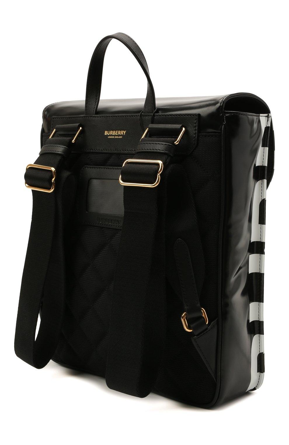 Детская портфель satchel BURBERRY черного цвета, арт. 8041146   Фото 2 (Материал: Текстиль)
