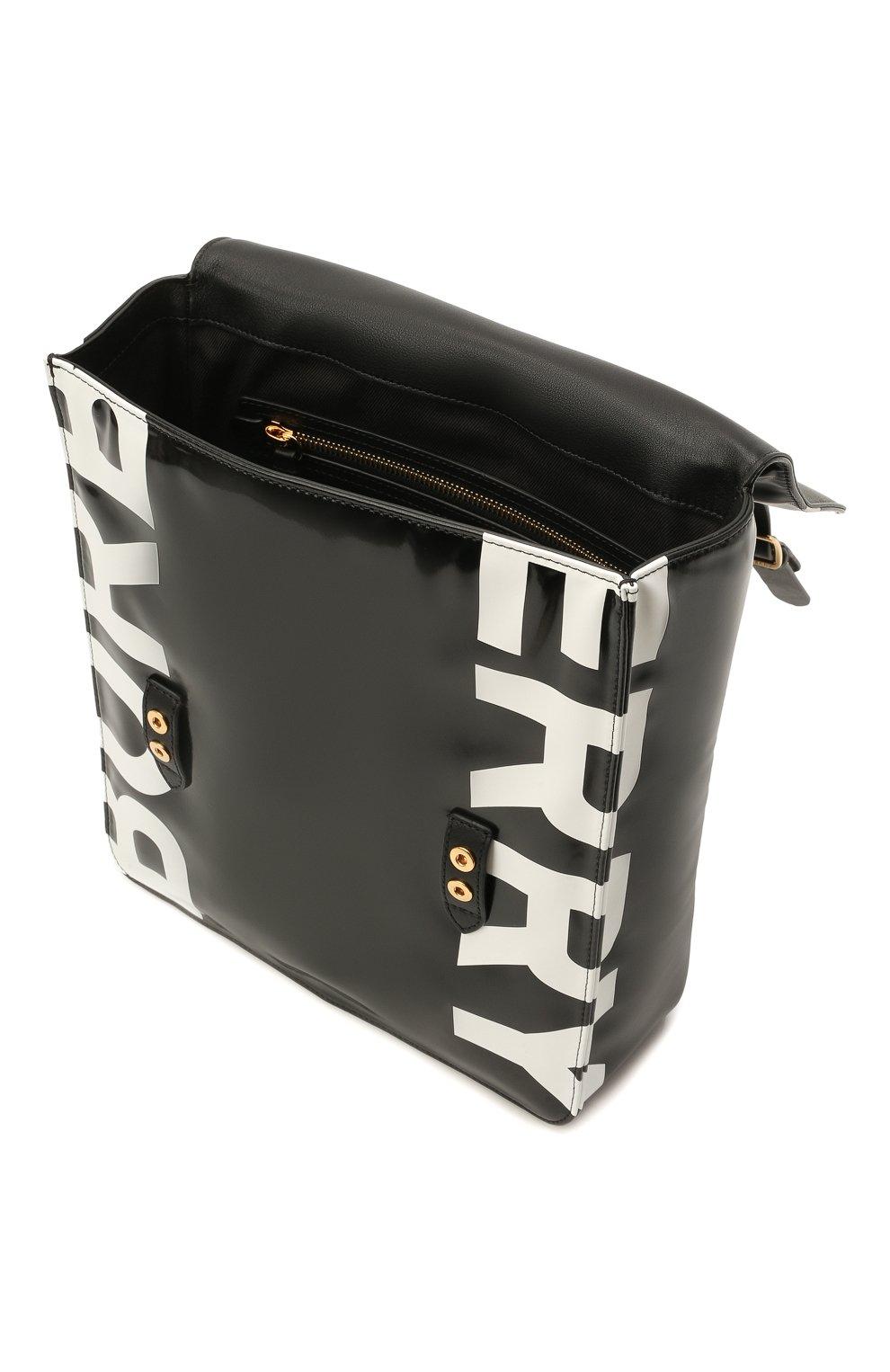 Детская портфель satchel BURBERRY черного цвета, арт. 8041146   Фото 3 (Материал: Текстиль)