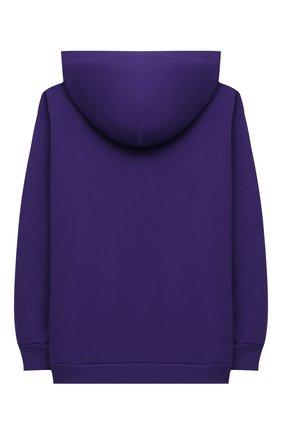 Детский хлопковое худи DIESEL фиолетового цвета, арт. J00094-0IAJH | Фото 2
