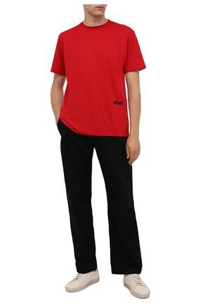 Мужская хлопковая футболка LOEWE красного цвета, арт. H526Y22J34 | Фото 2