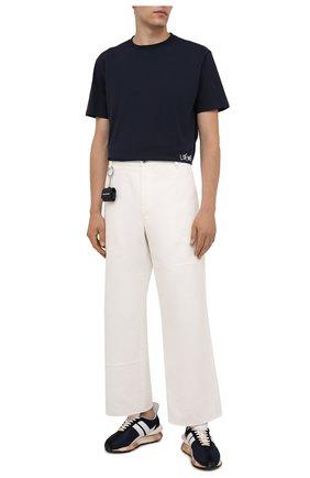 Мужская хлопковая футболка LOEWE темно-синего цвета, арт. H526Y22J34 | Фото 2