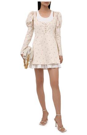 Женское хлопковое платье BOTROIS бежевого цвета, арт. SKU020180   Фото 2