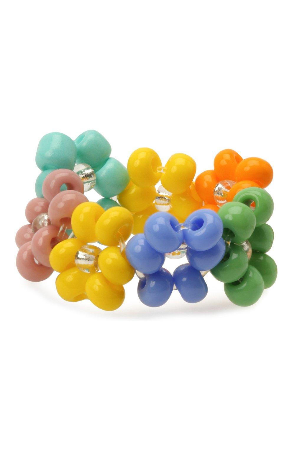 Женское кольцо ромашка HIAYNDERFYT разноцветного цвета, арт. 1-1MNRM | Фото 2 (Материал: Стекло)