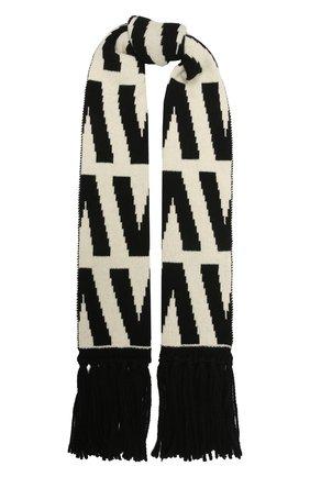 Женский шерстяной шарф VALENTINO черно-белого цвета, арт. WW2ET00K/DUR | Фото 1