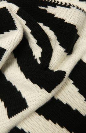 Женский шерстяной шарф VALENTINO черно-белого цвета, арт. WW2ET00K/DUR | Фото 2