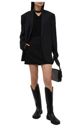 Женские кожаные сапоги pipe riding PROENZA SCHOULER черного цвета, арт. PS37012A/14030 | Фото 2