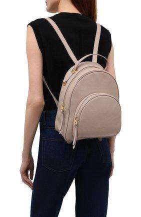 Женский рюкзак lea small COCCINELLE бежевого цвета, арт. E1 I60 14 01 01   Фото 2