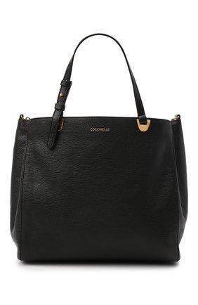 Женская сумка lea COCCINELLE черного цвета, арт. E1 I60 18 02 01   Фото 1 (Материал: Натуральная кожа; Ремень/цепочка: На ремешке; Сумки-технические: Сумки top-handle; Размер: medium)
