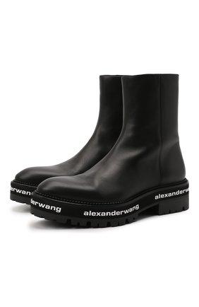Женские кожаные ботинки ALEXANDER WANG черного цвета, арт. 30321B078   Фото 1