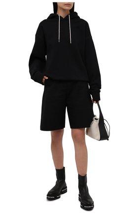 Женские кожаные ботинки ALEXANDER WANG черного цвета, арт. 30321B078   Фото 2
