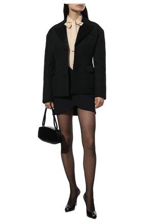 Женские кожаные босоножки lola SAINT LAURENT черного цвета, арт. 661021/0NP00 | Фото 2 (Каблук тип: Шпилька; Материал внутренний: Натуральная кожа; Подошва: Плоская; Каблук высота: Высокий)