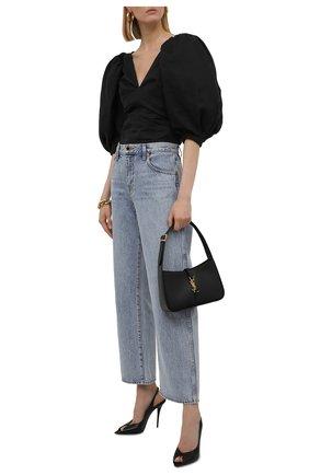 Женские кожаные босоножки lola SAINT LAURENT черного цвета, арт. 661021/2Y900 | Фото 2 (Материал внутренний: Натуральная кожа; Подошва: Плоская; Каблук высота: Высокий; Каблук тип: Шпилька)
