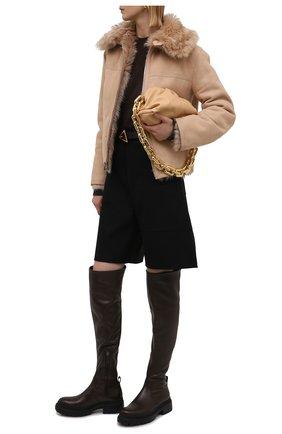 Женские кожаные ботфорты BRUNELLO CUCINELLI темно-коричневого цвета, арт. MZNSG2052 | Фото 2 (Подошва: Платформа; Каблук высота: Низкий; Материал внутренний: Натуральная кожа; Каблук тип: Устойчивый; Высота голенища: Высокие)