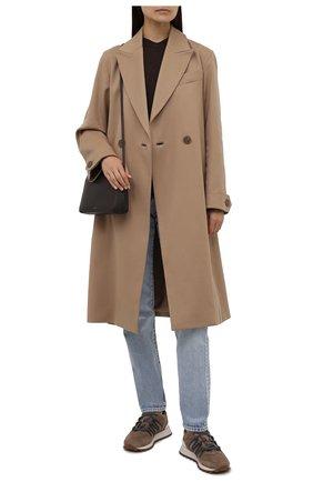 Женские замшевые кроссовки BRUNELLO CUCINELLI коричневого цвета, арт. MZSFG2021 | Фото 2 (Материал внутренний: Текстиль; Подошва: Платформа; Материал внешний: Замша)