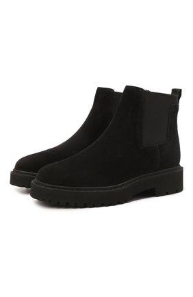 Женские замшевые ботинки HOGAN коричневого цвета, арт. HXW5430DG80BYE | Фото 1