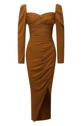 Женское платье из вискозы SELF-PORTRAIT хаки цвета, арт. PF21-031MA | Фото 1