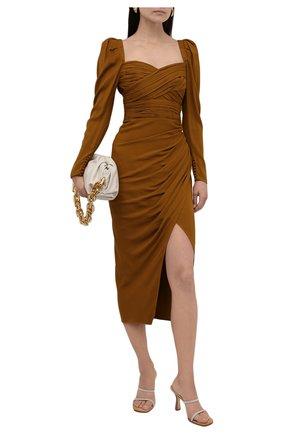 Женское платье из вискозы SELF-PORTRAIT хаки цвета, арт. PF21-031MA | Фото 2