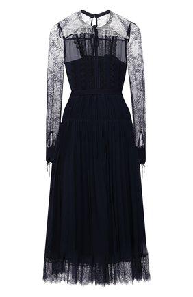 Женское платье SELF-PORTRAIT темно-синего цвета, арт. PF21-042A | Фото 1