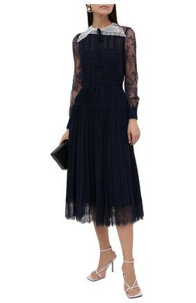 Женское платье SELF-PORTRAIT темно-синего цвета, арт. PF21-042A | Фото 2
