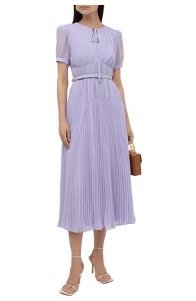 Женское платье SELF-PORTRAIT сиреневого цвета, арт. PF21-060MA | Фото 2