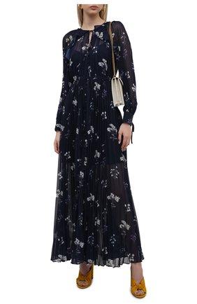 Женское платье SELF-PORTRAIT темно-синего цвета, арт. PF21-062A | Фото 2