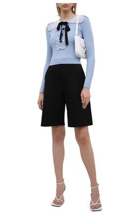Женский пуловер SELF-PORTRAIT голубого цвета, арт. PF21-078T | Фото 2