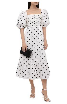 Женское платье SELF-PORTRAIT черно-белого цвета, арт. PF21-085 | Фото 2