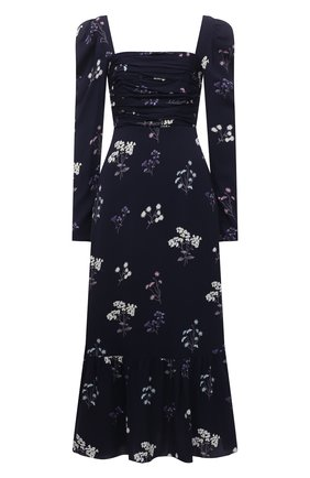 Женское платье из вискозы SELF-PORTRAIT темно-синего цвета, арт. PF21-085B | Фото 1