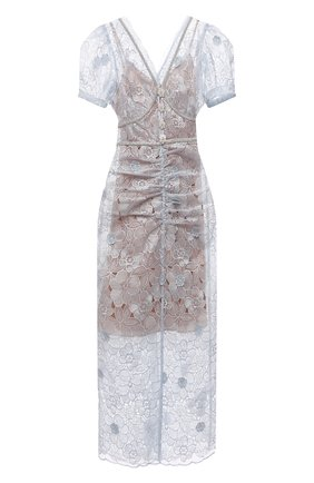 Женское платье SELF-PORTRAIT голубого цвета, арт. PF21-087 | Фото 1