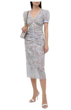 Женское платье SELF-PORTRAIT голубого цвета, арт. PF21-087 | Фото 2