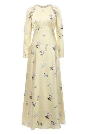 Женское платье из вискозы SELF-PORTRAIT желтого цвета, арт. PF21-108A | Фото 1