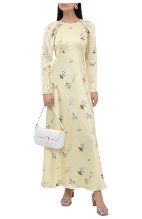 Женское платье из вискозы SELF-PORTRAIT желтого цвета, арт. PF21-108A | Фото 2