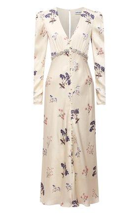 Женское платье из вискозы SELF-PORTRAIT кремвого цвета, арт. PF21-109 | Фото 1