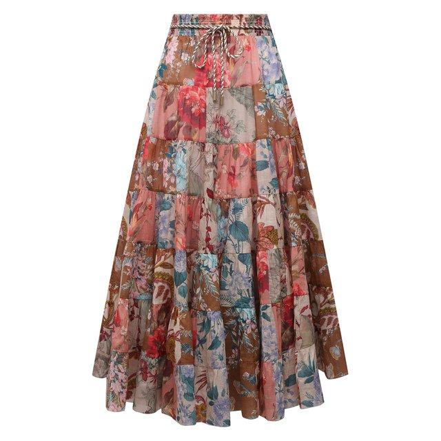 Хлопковая юбка Zimmermann