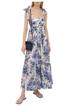 Женское хлопковое платье ZIMMERMANN синего цвета, арт. 9746DALI   Фото 2