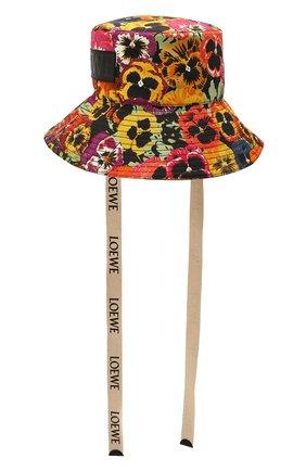 Женская хлопковая панама LOEWE разноцветного цвета, арт. K820HF1X20   Фото 1