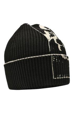 Женская хлопковая шапка LOEWE черно-белого цвета, арт. F811250X02 | Фото 1 (Материал: Хлопок, Текстиль)