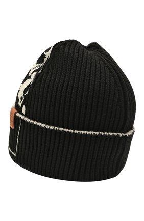 Женская хлопковая шапка LOEWE черно-белого цвета, арт. F811250X02 | Фото 2 (Материал: Хлопок, Текстиль)