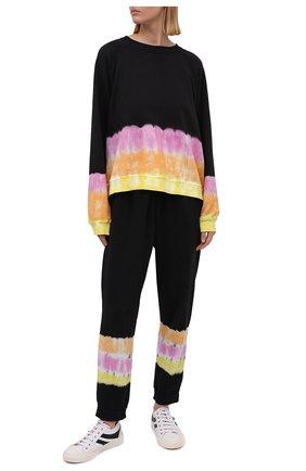 Женский хлопковый свитшот ELECTRIC&ROSE разноцветного цвета, арт. LFCV59-S0NIC | Фото 2 (Рукава: Длинные; Длина (для топов): Стандартные; Материал внешний: Хлопок; Стили: Спорт-шик; Женское Кросс-КТ: Свитшот-одежда, Свитшот-спорт)
