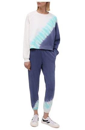 Женские хлопковые джоггеры ELECTRIC&ROSE разноцветного цвета, арт. LFBT08-ECH0 | Фото 2 (Длина (брюки, джинсы): Стандартные; Материал внешний: Хлопок; Стили: Спорт-шик; Женское Кросс-КТ: Джоггеры - брюки, Брюки-спорт; Силуэт Ж (брюки и джинсы): Джоггеры)