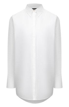 Женская хлопковая рубашка EMPORIO ARMANI белого цвета, арт. 6K2C68/2N8YZ   Фото 1
