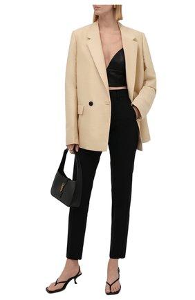 Женские шерстяные брюки EMPORIO ARMANI черного цвета, арт. 0NP08T/02002   Фото 2
