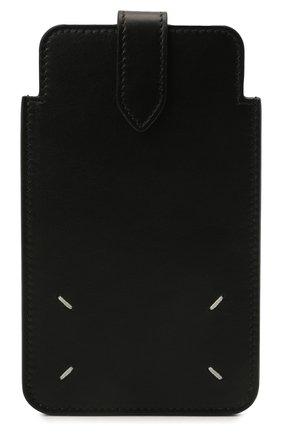 Кожаный кошелек MAISON MARGIELA черного цвета, арт. S56UI0211/P4303   Фото 1