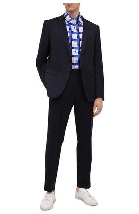 Мужской шерстяной костюм BOSS темно-синего цвета, арт. 50458903 | Фото 1