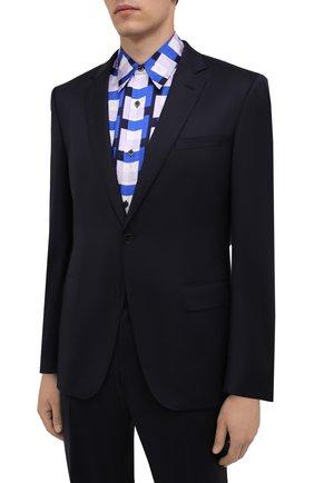 Мужской шерстяной костюм BOSS темно-синего цвета, арт. 50458903 | Фото 2