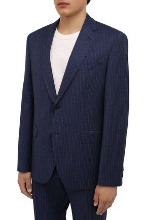 Мужской шерстяной костюм BOSS синего цвета, арт. 50459114 | Фото 2