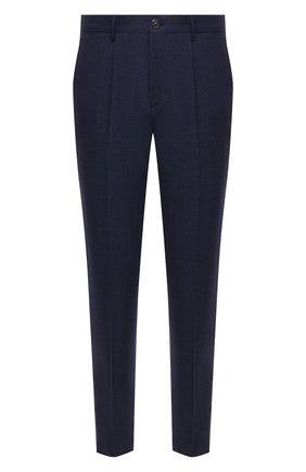 Мужские шерстяные брюки BOSS синего цвета, арт. 50458749 | Фото 1