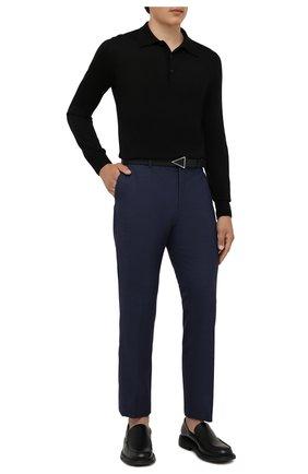 Мужские шерстяные брюки BOSS синего цвета, арт. 50458749 | Фото 2