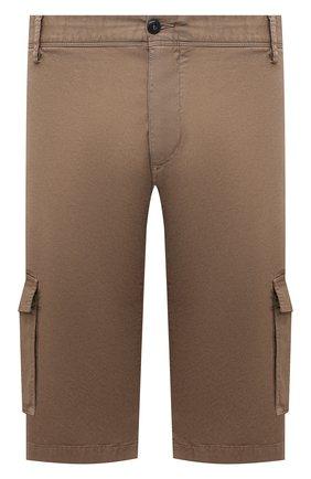 Мужские хлопковые шорты PAUL&SHARK темно-бежевого цвета, арт. 21414003/E7A/62-64 | Фото 1 (Принт: Без принта; Материал внешний: Хлопок; Мужское Кросс-КТ: Шорты-одежда; Длина Шорты М: Ниже колена; Big sizes: Big Sizes; Стили: Кэжуэл)