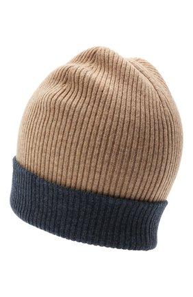 Мужская кашемировая шапка BRUNELLO CUCINELLI темно-бежевого цвета, арт. M2293600 | Фото 2